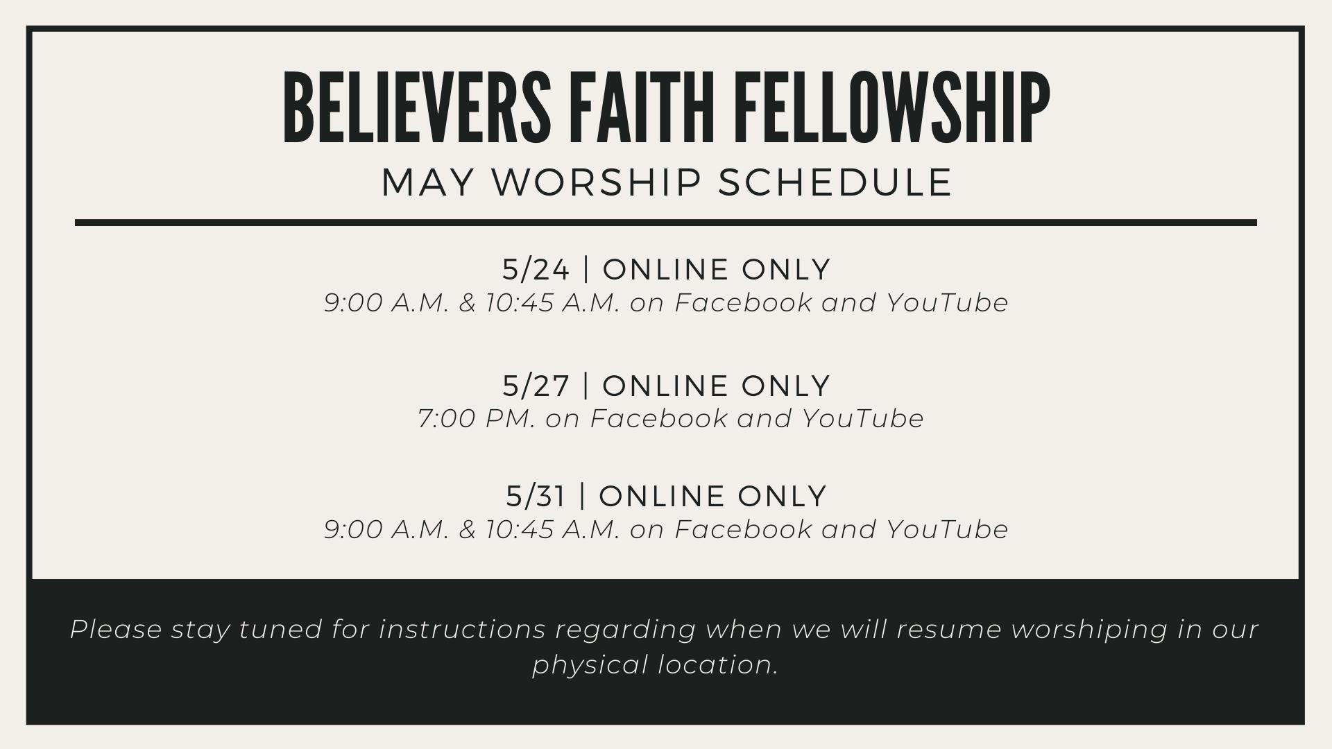 BFF-Worship-Schedule